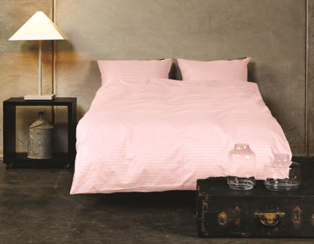 Casa Decor Sengetøj Stripe Dusty Rose 140 x 200 cm