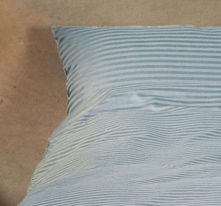 Casa Decor Sengetøj Stripe Blue Sky 140 x 200 cm