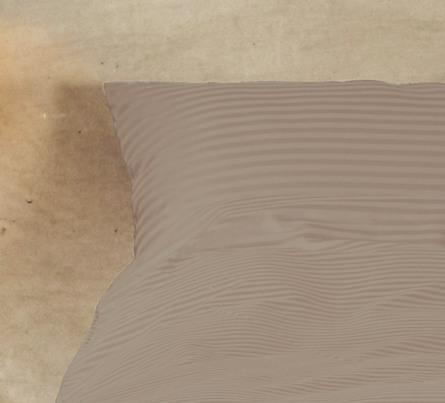 Casa Decor Sengetøj Stripe Clay 140 x 220 cm