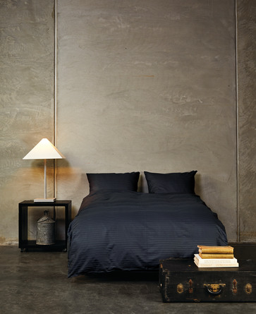 Casa Decor Sengetøj Stripe Night Blue 140 x 200 cm
