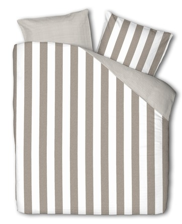 Casa Decor Everline Sengetøj Stripe Clay/Off White 140 x 200 cm