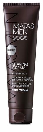 Matas Striber Men Shaving Cream til Sensitiv Hud Uden Parfume 100 ml