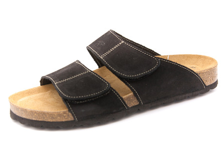 Matas Material Sandal Black Velcro Str. 36