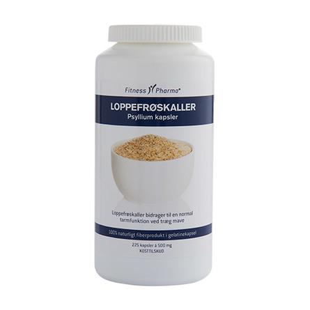 Loppefrøskaller Psyllium Fitness Pharma 225 kap