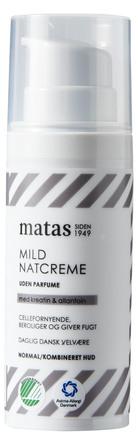 Matas Striber Mild Natcreme til Normal/Kombineret Hud Uden Parfume 50 ml