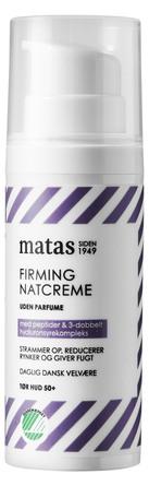 Matas Striber Firming Natcreme til Tør Hud Uden Parfume 50 ml