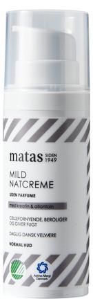 Matas Striber Mild Natcreme til Normal Hud Uden Parfume 50 ml