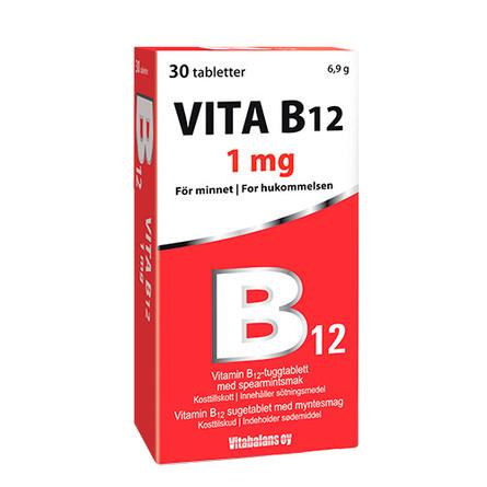 Vitabalans Oy Vita B12   1mg 30 tabl.