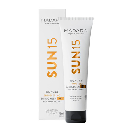 Mádara Beach BB Shimmering Sunscreen SPF 15 100 ml