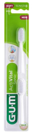 GUM ActiVital Sonic børstehoveder refill 2 stk