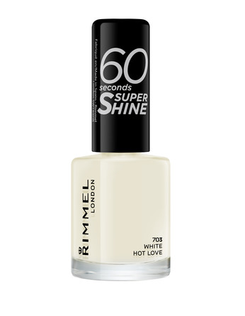 Rimmel 60 Seconds Super Shine Neglelak 703 White Hot Love