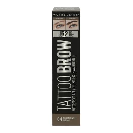 Maybelline Tattoo Brow Gel Waterproof 04 Medium Brown