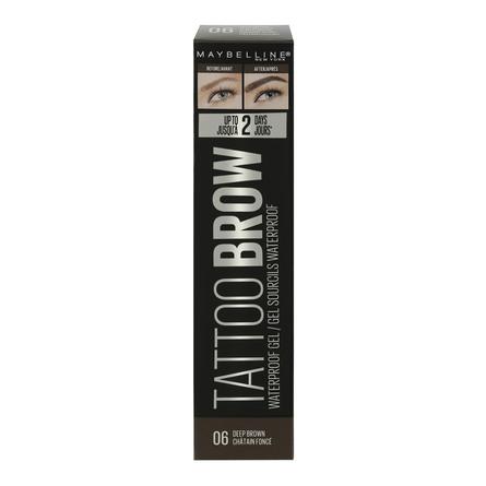 Maybelline Tattoo Brow Gel Vandfast 06 Deep Brown