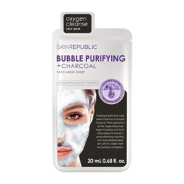 Skin Republic Bubble Purifying + Charcoal Face Mas