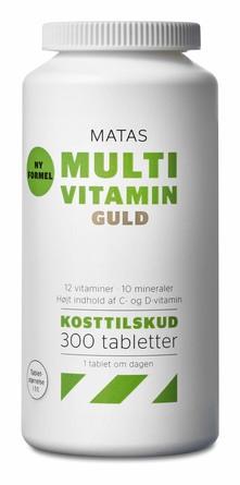Matas Striber Multivitamin Guld 300 tabl.