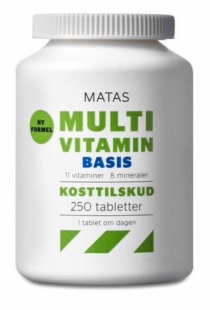 Matas Striber Multivitamin Basis 250 tabl.