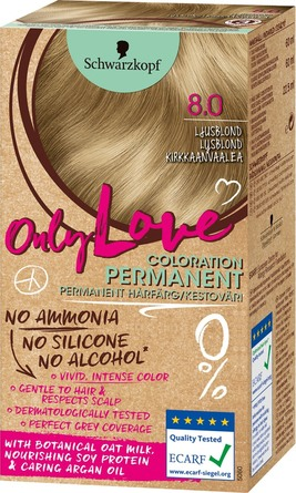 new arrivals lace up in more photos Schwarzkopf Only Love Permanent Hårfarve 8.0 Lysblond