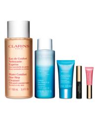 Clarins 100ml one-step/50ml instant eye/15ml maske/5ml l