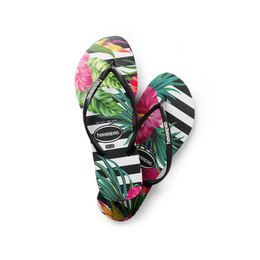Havaianas Slim Tropical Floral/Imperial Palace str. 39/40 - 26 cm lang