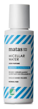 Matas Striber Micellar Water til Normal Hud Uden Parfume 75 ml, rejsestørrelse