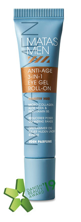 Matas Striber Men Anti Age 3-in-1 Eye Gel Roll-on til Sensitiv Hud Uden Parfume 15 ml