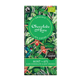 Chocolate and Love Chokolade Mint 67% Øko 80g