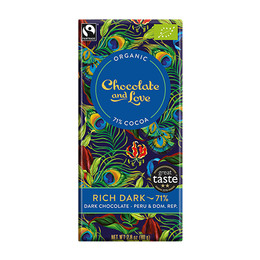 Chocolate and Love Chokolade Rich Dark 71% 80 gr.