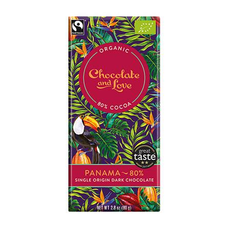Chocolate and Love Chokolade Panama 80% Øko 80 gr.