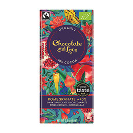 Chocolate and Love Chokolade Pomegranate 70%  Øko 80g