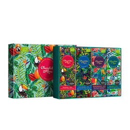 Chocolate and Love Chokolade Gaveæske Panama Green 4x40g Øko