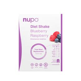 Nupo diet shake hindbær & blåbær 384 g