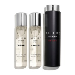 CHANEL EAU DE TOILETTE REFILLABLE TRAVEL SPRAY 3 x 20 ML