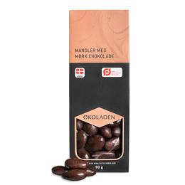 Mandler mørk chokolade Ø 90 g
