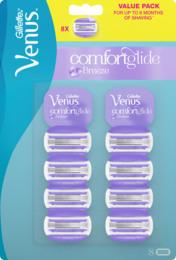 Gillette Venus Comfort Glide Breeze Barberblade 8 stk.