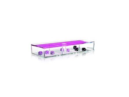Nomess Clear 3-room Box with Neon Pink Lid