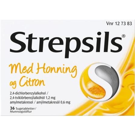 Strepsils Honning & Citron sugetablet 36 stk
