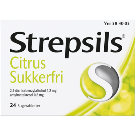 Strepsils Citrus sukkerfri sugetablet 24 stk