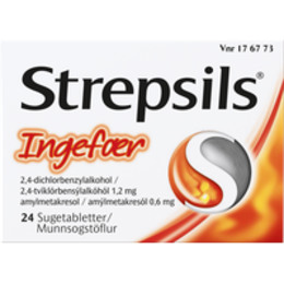 Strepsils Ingefær sugetablet 24 stk