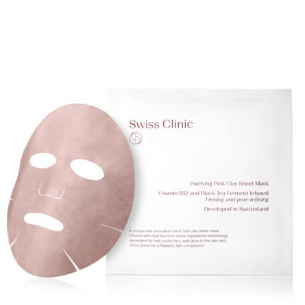 Swiss Clinic Purifying Pink Clay Sheet Mask 1 stk