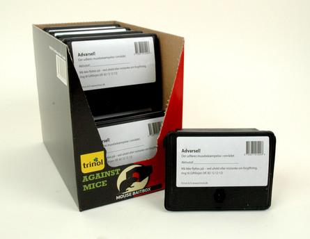 Trinol Muselokkeboks sort plast 1 stk.