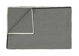 Marc O'Polo Arvid Plaid  Sort/kalk 130 x 170 cm