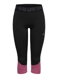 Only Play JACEY 3/4 Trænings tights Sort/pink str. S