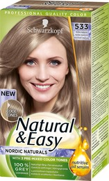 Schwarzkopf Natural & Easy 533 Nordisk Askeblond