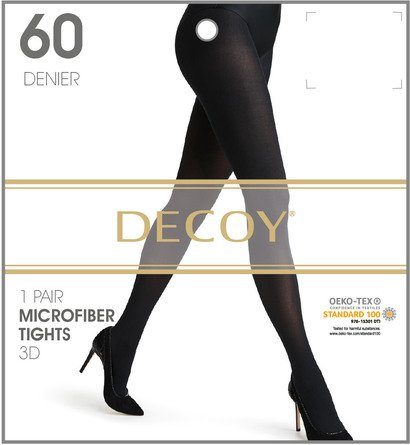 Decoy Microfiber Nylonstrømpe 3D Sort 60 Den. S/M