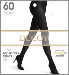 Decoy Microfiber Nylonstrømpe 3D Sort 60 Den. XL