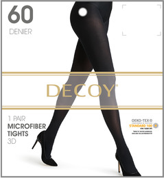 Decoy Microfiber Nylonstrømpe 3D Navy 60 Den. S/M