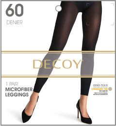 Decoy Microfiber Leggings 3D Sort 60 Den.