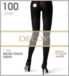 Decoy Micro touch Nylonstrømpe Sort 100 Den. S/M