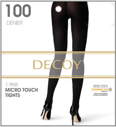 Decoy Micro touch Nylonstrømpe Sort 100 Den. XL