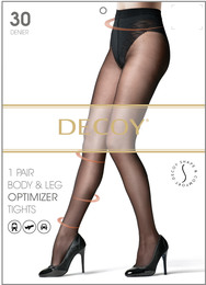 Decoy Shape & Comfort Leg & body optimizer Sort 30 Den. S/M